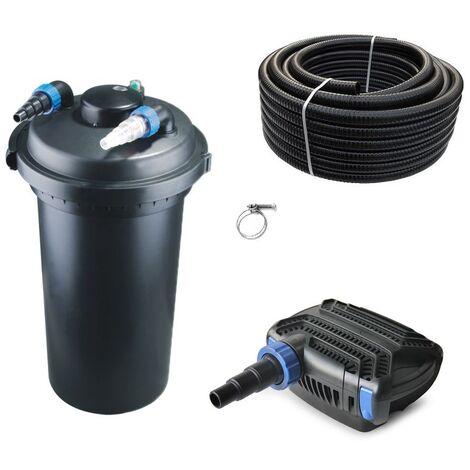 Druckteichfilter Set CPF 500 mit 30W Eco Pumpe 10m Schlauch bis 30.000l Nr.14