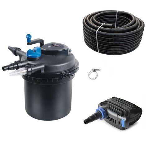 Druckteichfilter Set CPF 5000 mit 10W Eco Pumpe 10m Schlauch bis 8.000l Nr.16