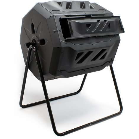 Drum composter 160 l capacity rotatable for decomposing compost