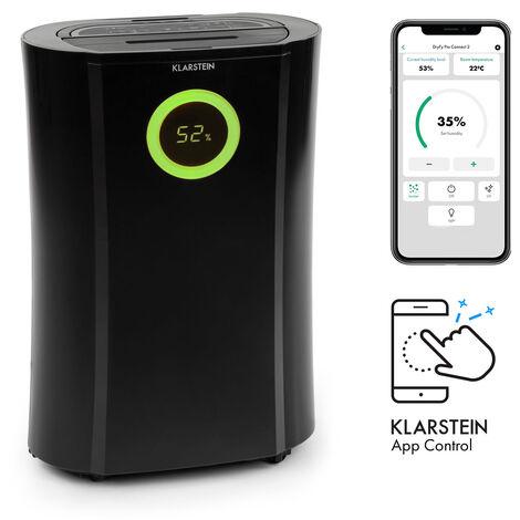 DryFy Pro Connect deshumidificador Wifi compresión 20 l/d 20 m² 370 W negro