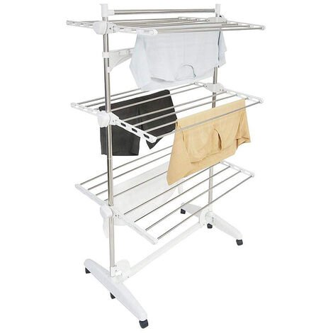 Drying Rack White 3 Tier Laundry Dryer