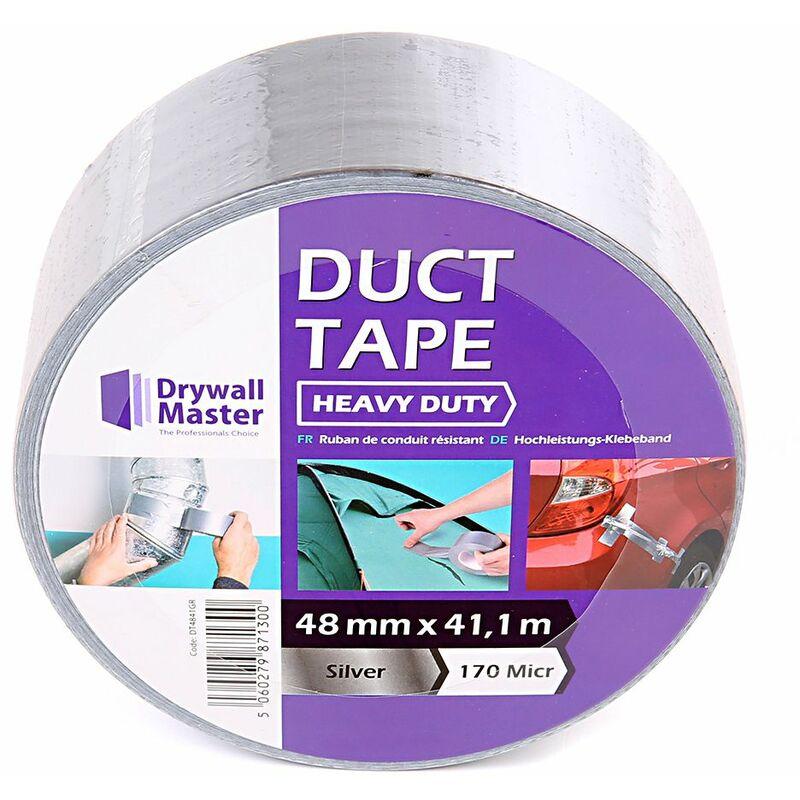 Image of Drywall Maste Heavy Duty Duct Tape Silver / Grey WaterProof 48MM X 41.1M 170 MICR