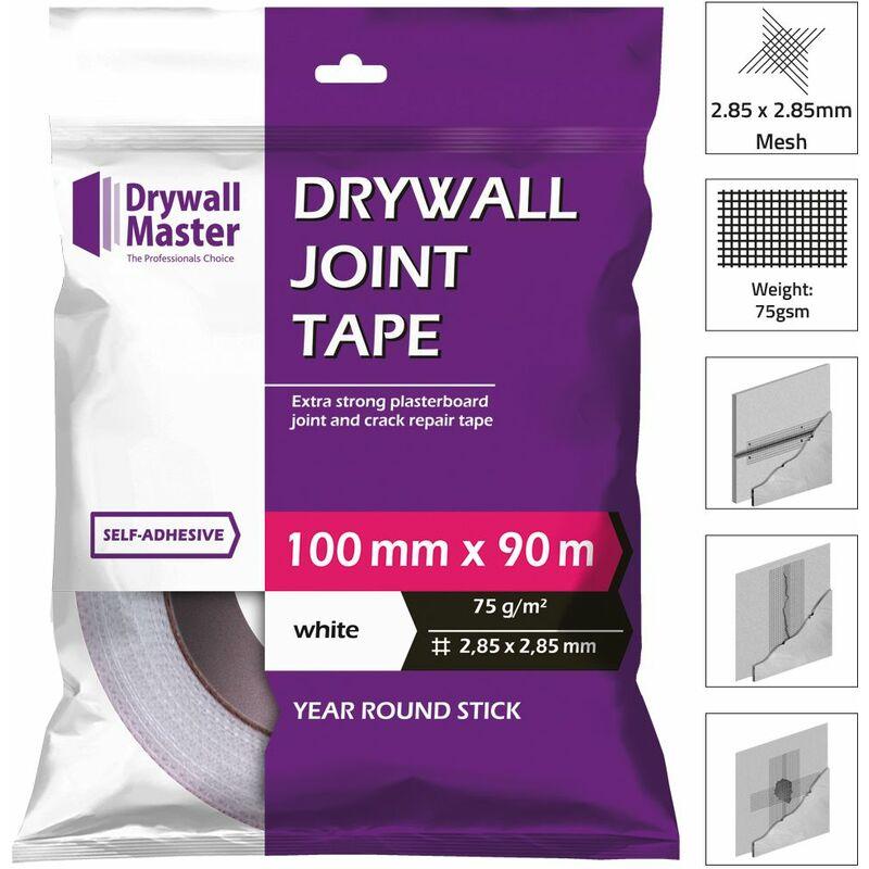 Image of Scrim Self Adhesive Mesh Plasterboard Joint Tape 100mm x 90 Metre - Drywall Master