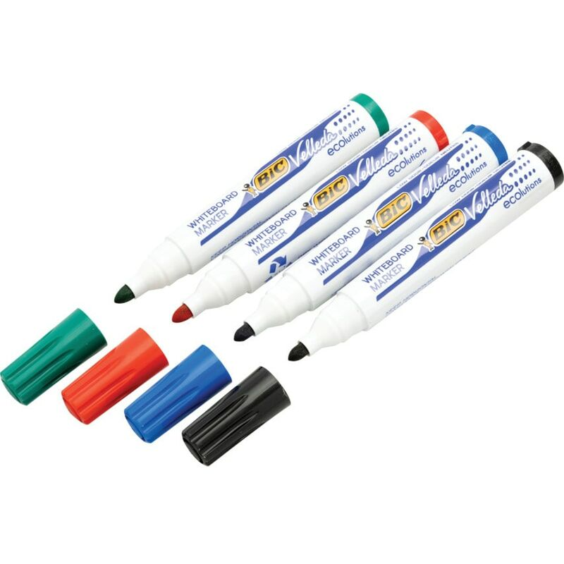Image of BiC Drywipe Marker Assorted (Pack-4)