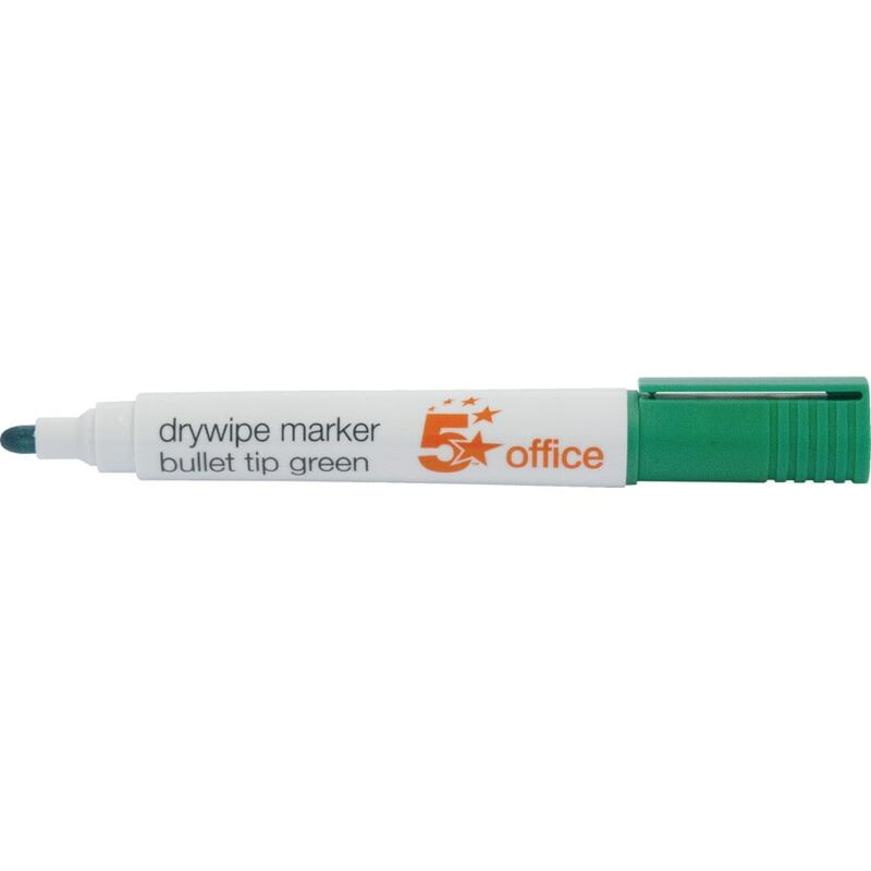 Image of Star 5 Star Dry Wipe Marker Green (Pack-12) - Five
