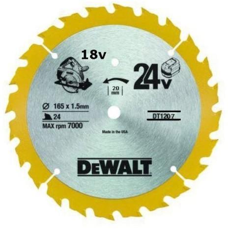 DT1207 LSC 165x20x24D alter, +20° trait 1,5mm