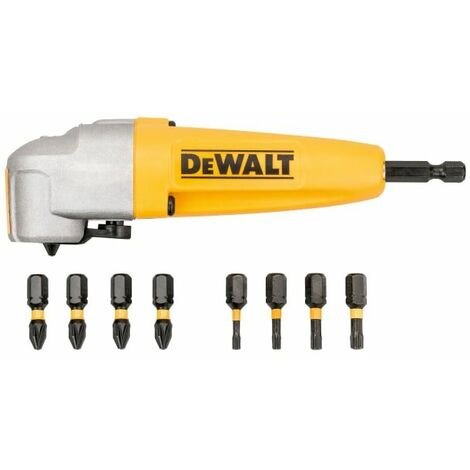 DT70619T Impact Rated Right Angle Drill Attachment & 8 Bits (DEWDT70619T)