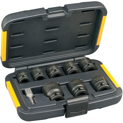 DT7507 Impact Socket Set of 9 Metric 1/2in Drive
