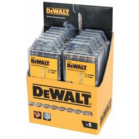 DT9398 SDS Plus Drill Bit Set, 5 Piece Display of 12 (DEWDT9398MQZ)