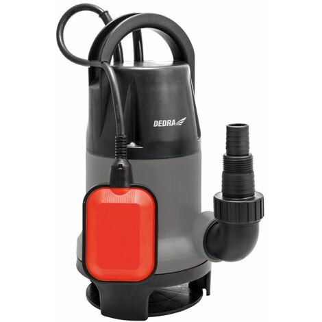 DTOOLS | Pompe pour eau sale claire avec flotteur | Débit 11000 l/h | Pompe Vide-Cave | Hauteur de Refoulement 7 m | 35mm Granule | Gris - Gris