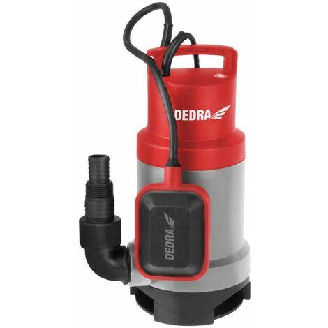 DTOOLS | Pompe pour eau sale claire avec flotteur | Débit 15000 l/h | Pompe Vide-Cave | Hauteur de Refoulement 9 m | 35mm Granule - Gris - Gris