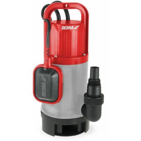 DTOOLS   Pompe pour eau sale claire avec flotteur 1000W   Débit 17000 l/h   Pompe Vide-Cave   Hauteur de Refoulement 10m - Gris - Gris