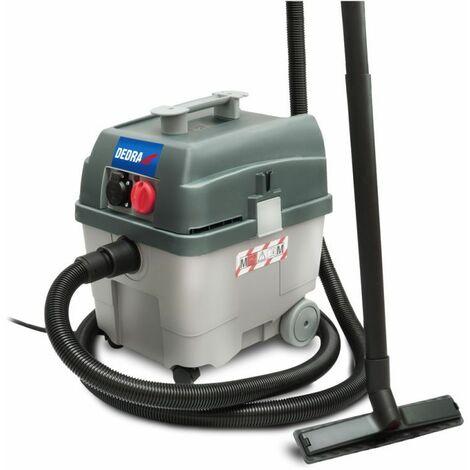 DTOOLS | Aspirateur eau et poussière | 1400 W + prise 2200W | Cuve inox capacité 27 L | Aspirateur atelier | Filtre HEPA - Vert