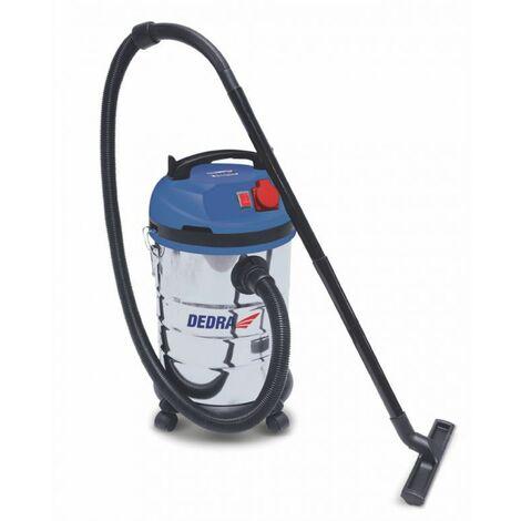 DTOOLS | Aspirateur industriel eau et poussière | Puissance 1400 W | Cuve inox capacité 30 L | Aspirateur atelier | Filtre HEPA - Bleu