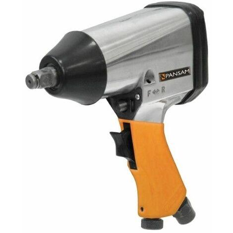 DTOOLS   Boulonneuse clé à choc pneumatique avec mallette   Raccordement 1/2   Couple de serrage max 310 Nm - Orange
