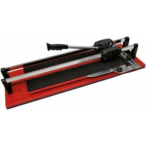 DTOOLS - Coupe-carreaux manuel - Longueur de coupe 700 mm - Scie de carrelage à roulements - Rouge