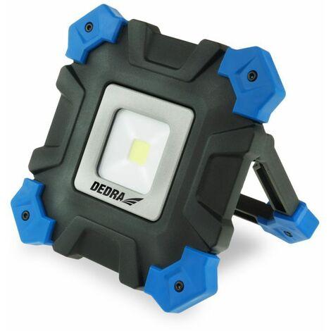 DTOOLS - Lampe de travail COB LED - Puissance 2000W - 3 modes - Projecteur chantier - 800 Lumens max - Bleu