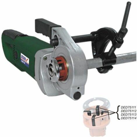 DTOOLS - Machine à fileter électrique pour tubes - Puissance 1800W - Tension 230V - Filière pour tubes - Vert