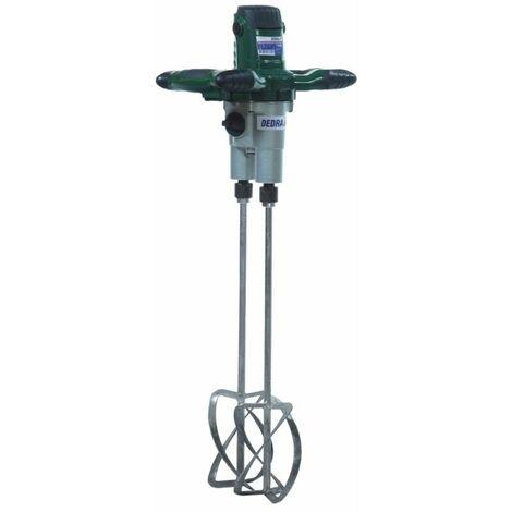 DTOOLS - Malaxeur électrique 1350W/230V - Vitesse 580-800 tr/min - Diamètre turbines 120 mm - Fixation M14 - Bleu
