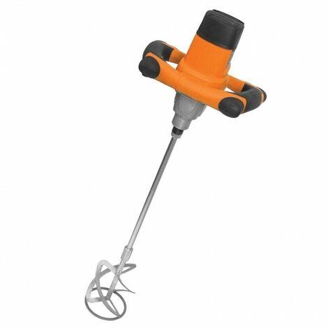 DTOOLS | Malaxeur électrique colle/peinture/vernis | Puissance 1050 W | Variateur de rotation | Vitesse de rotation 100 | 700/min - Orange