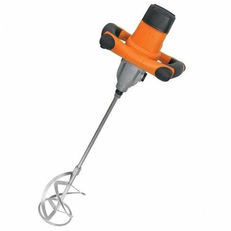 DTOOLS | Malaxeur électrique colle/peinture/vernis | Puissance 1400 W | Variateur de rotation | Vitesse de rotation 100 | 700/min - Orange