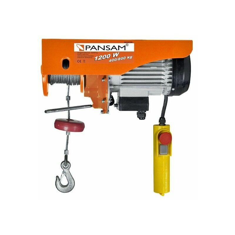 Hucoco - DTOOLS   Palan éléctrique   Treuil de levage   Charge maximale 400 kg/800kg   Puissance nominale 1200 W   Orange - Orange