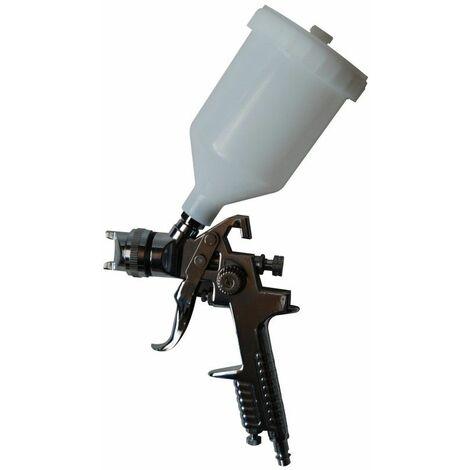 DTOOLS | Pistolet à peinture pour compresseur | Godet 500 ml | Diamètre buse 1,4 mm | Raccord rapide 1/4 - Blanc