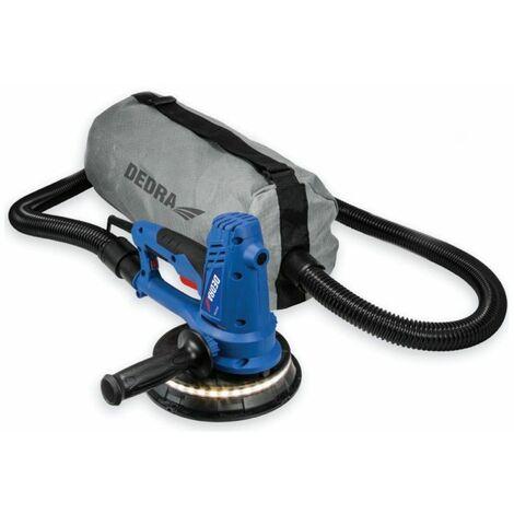 DTOOLS - Ponceuse à gypse avec LED + extraction de la poussière - Puissance 750W - Vitesse 1500-2700 rpm - Bricolage Atelier - Bleu