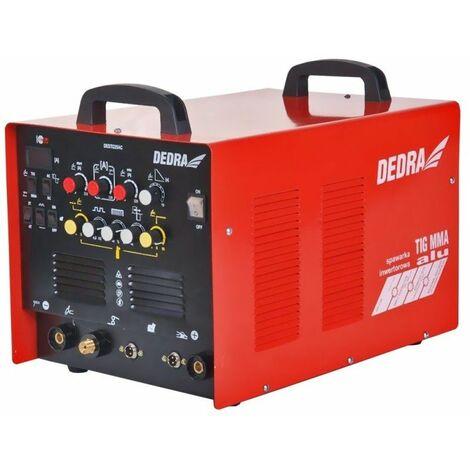 DTOOLS - Poste à souder Inverter TIG AC/DC MMA 10-225A - Épaisseur de l'électrode jusqu'à 4 mm - Poste de soudage atelier garage - Rouge