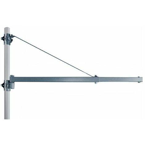 DTOOLS - Potence pour palan électrique - Bras téléscopique pour palan - 750mm/600kg - 1000mm/250kg - Argent