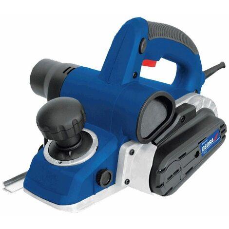 DTOOLS - Rabot électrique filaire - Puissance 1050W - Vitesse 16000 tr/min - Raboteuse bois - Double évacuation poussière - Bleu