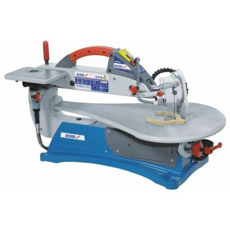 DTOOLS - Scie à chantourner - Puissance: 240W - Diode LED - Scie découpe bois/contreplaqué - Outil bricolage atelier - Bleu