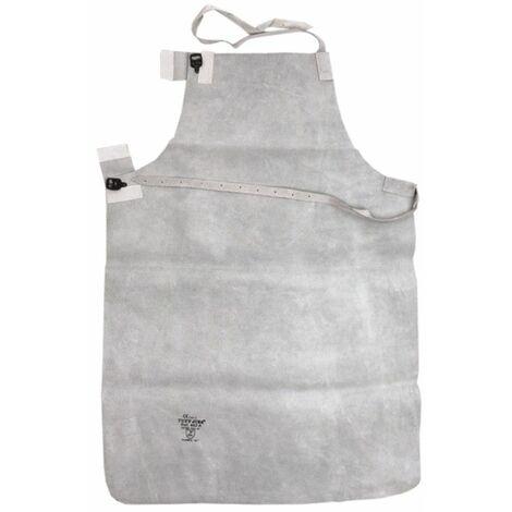 DTOOLS - Tablier de soudeur - 60x90cm - En cuir refendu - Pour la protection pendant le soudage - Grirs