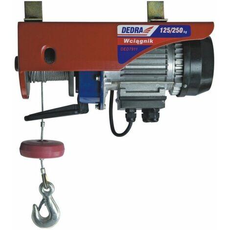 DTOOLS | Treuil Palan électrique garage/atelier | Charge max 200 kg | Hauteur de levage 12 m | Machine outil d'atelier | Manutention - Rouge