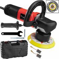 Dual action polisher 710W - dual action polisher, dual action car polisher, orbital car polisher - red