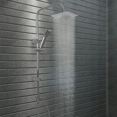 Dual Head Shower Set with Hand Shower Stainless Steel - Silver