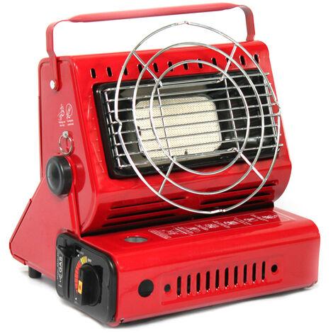 Dual portatil Gases al aire libre calentadores portatiles Calentadores para exteriores Tipo de tarjeta Gases Calentadores pesca que acampa de la tienda de coches Montada ingesta Calentadores Calentadores doble al aire libre, Rojo