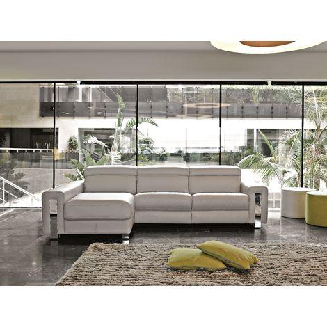 Dubai Italian Reclining Leather Corner Group Sofa Artico