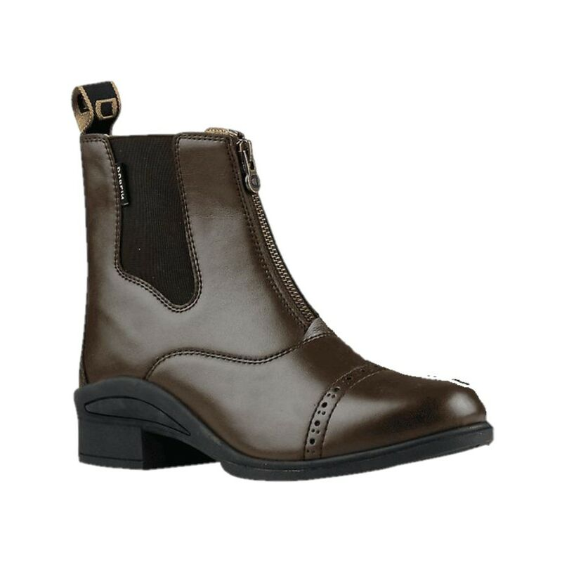 Image of Childrens/Kids Altitude Short Riding Boots (1 UK Child) (Brown) - Dublin
