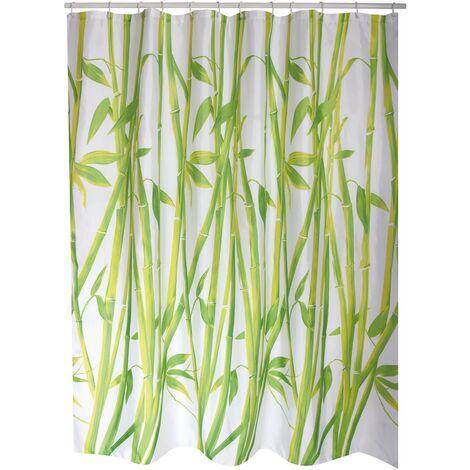 Ducha 180cm cortina de bambú verde MSV
