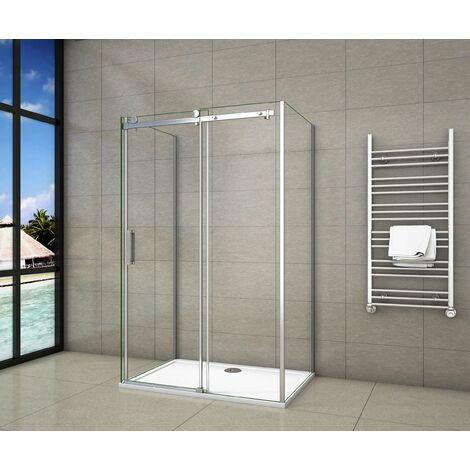Ducha cabina de ducha, en forma U, mampara de 8 mm con tratamiento antical cristal templado