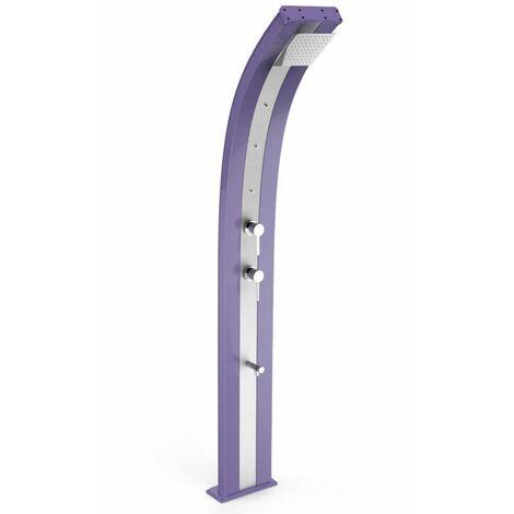 Ducha curva Dada Viola con cinta de acer cm 34x14x226 ARKEMA DESIGN - prodotto made in Italy CV-D350/4005-I