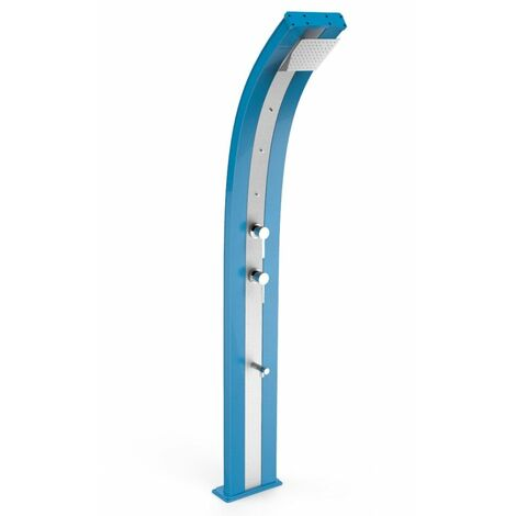 Ducha Dada nebulizadora azul y acero ino cm 34x14x226 ARKEMA DESIGN - prodotto made in Italy CV-D350/5012-I