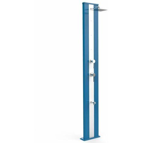 Ducha Dada S Azul y nebulización de acer cm 34x14x229 ARKEMA DESIGN - prodotto made in Italy CV-D450/5012-I