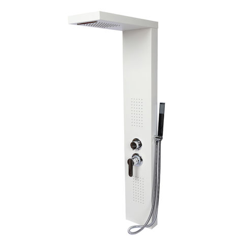 Ducha de lluvia Color blanco Termostato Ducha cascada Chorros masaje Accesorios cuarto de baño
