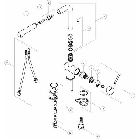 Ducha de mano de 2 chorros de repuesto para mezcladores de cocina Nobili RDO142/146   ducha