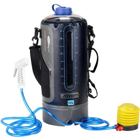 Ducha de PVC a presion, con bomba de pie, Ducha inflable para exteriores, Bolsa de agua para ducha