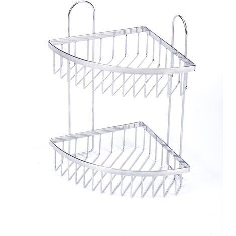 Ducha estantería angular de 2 plantas AquaVive - Brilliant Silver