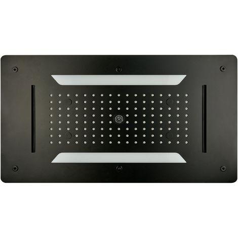 Ducha fija empotrable en techo XXL- DPG5030 - 70 x 38 cm - negro