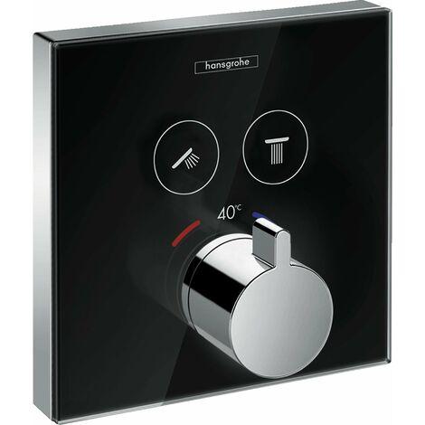 Ducha HansgroheDucha de mesaDucha de mesaSeleccione el termostato de vidrio, empotrado, 2 consumidores, color: Cromado / Blanco - 15738400